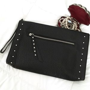 {NWOT} MOSSIMO Studded Pebbled Leather Clutch